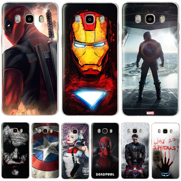 Marvel&DC Phone Back Case Cover For Samsung Galaxy J3 J5 J7 2016 2015