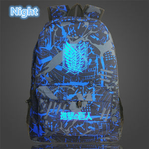 Attack on Titan Backpack Printing School Bag for Teenagers Cartoon Travel Bag Nylon - Anime Hero Shop