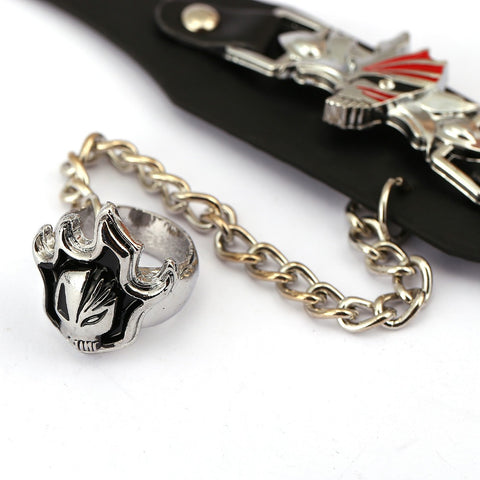Image of BLEACH Leather Bracelet ichigo Link Charm Bracelets Punk Bangle Men Women - Anime Hero Shop