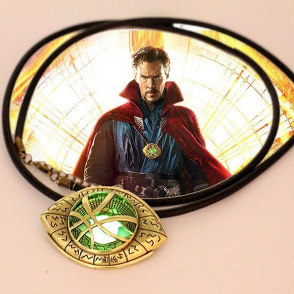 Doctor Strange Eye of Agamotto Amulet GLOW In THE DARK Pendant Necklace