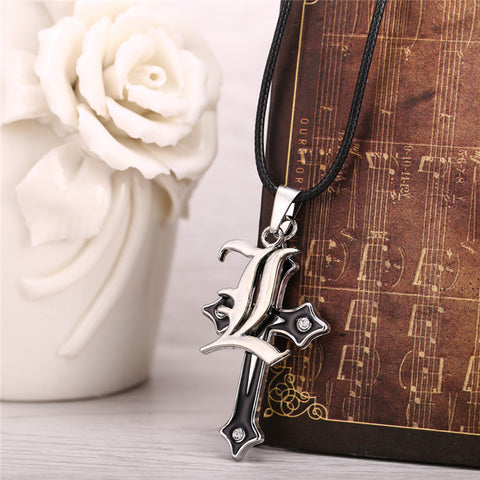 Image of 2018 Death Note Cross Logo Double Pendant Necklace - Anime Hero Shop