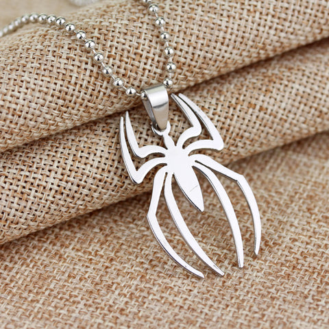Image of Spiderman Stainless Steel Charm Pendant - Necklace - Anime Hero Shop