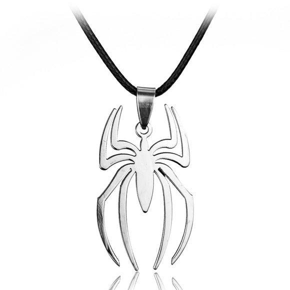 Spiderman Stainless Steel Charm Pendant - Necklace