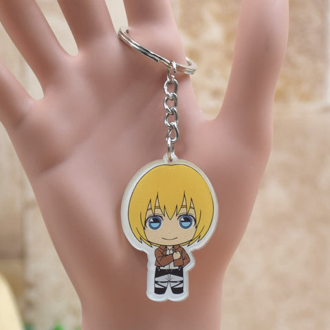 Image of Attack on Titan acrylic Keychain Action Figure Pendant Accessories  Key Ring - Anime Hero Shop