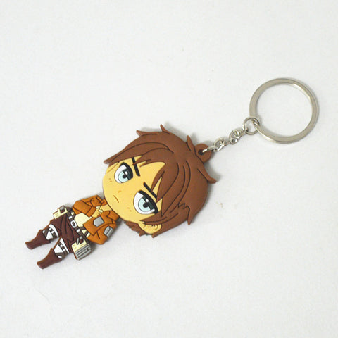Image of Attack on Titan PVC Keychain Action Figure Pendant Key Ring