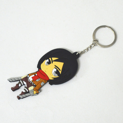 Image of Attack on Titan PVC Keychain Action Figure Pendant Key Ring - Anime Hero Shop