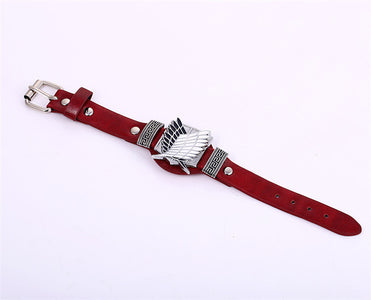 2018 Attack on Titan Red Bracelets - Anime Hero Shop