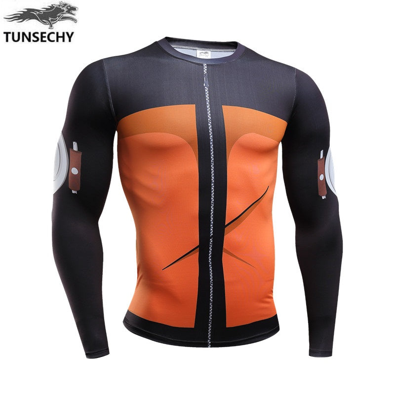 New Fitness t shirt Men naruto Bodybuilding Long Sleeve (10 Styles)