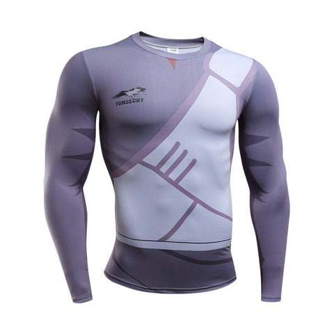 Image of New Fitness t shirt Men naruto Bodybuilding Long Sleeve (10 Styles) - Anime Hero Shop