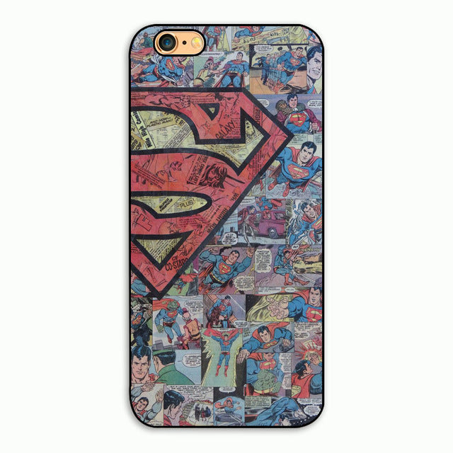 Superheroes Phone Hard Plastic Case Cover For Apple iPhone 4s/5s/se/5c/7/6s7plus/8 8p