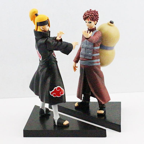 2Pcs/Set Deidara VS Gaara PVC Figures 16~17CM