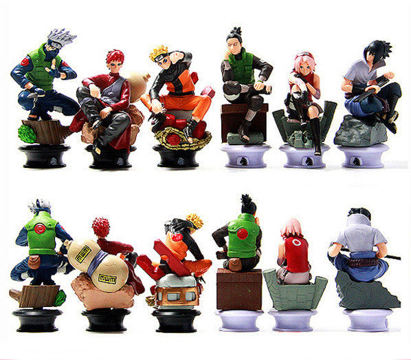 6 Pcs/set Naruto Action Figure Toys 8cm