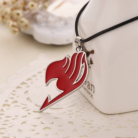 "Image of 4 color ""Fairy Tail"" logo pendant necklace"