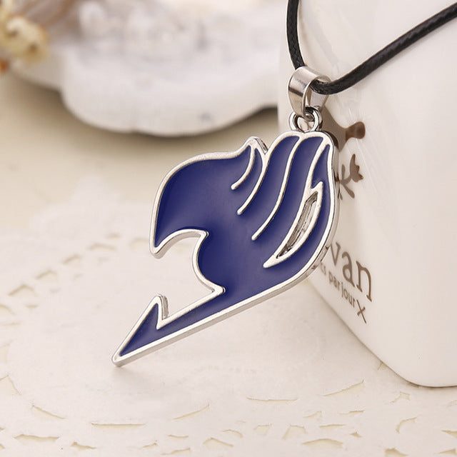 "4 color ""Fairy Tail"" logo pendant necklace"