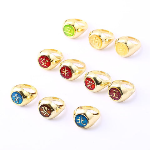 Image of Naruto Ring Gold Men Women Rings Akatsuki Cosplay Friendship Gift