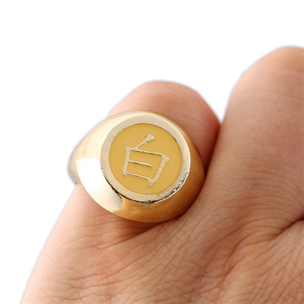 Naruto Ring Gold Men Women Rings Akatsuki Cosplay Friendship Gift