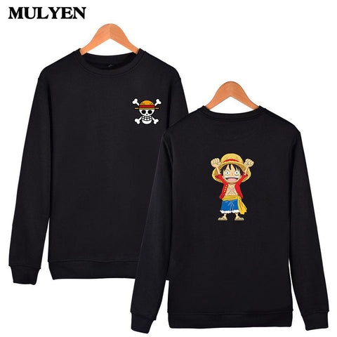 Image of Luffy Design Capless Sweatshirt High Quality Hoodies Men Hip Hop - Anime Hero Shop