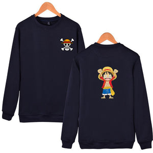 Luffy Design Capless Sweatshirt High Quality Hoodies Men Hip Hop - Anime Hero Shop