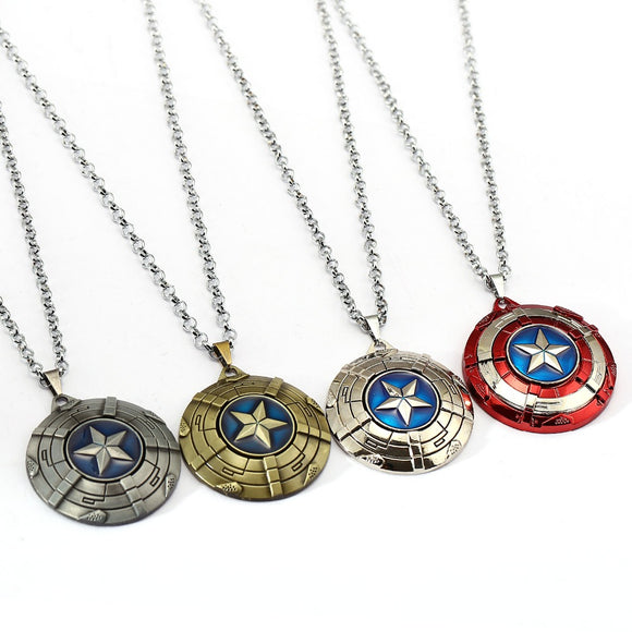 Captain America Necklace - Rotatable Stainless Steel Necklaces