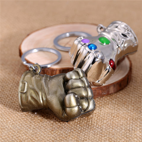 Image of Thanos Infinity Gauntlet Keychain Metal Key Rings Jewelry 2 Colors