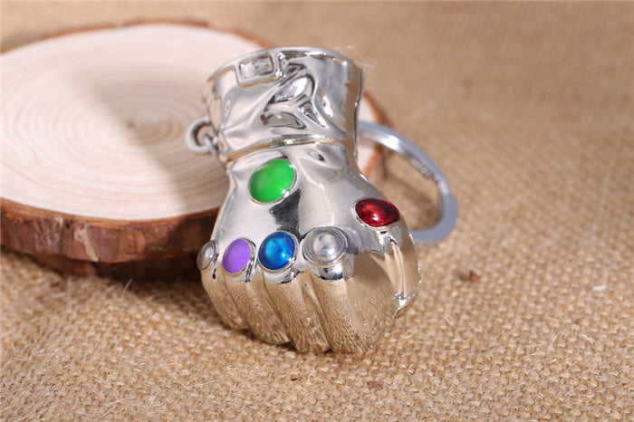 Thanos Infinity Gauntlet Keychain Metal Key Rings Jewelry 2 Colors