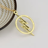 The Flash Pendant Necklace Gold Color Chain - Charms Necklace Jewelry