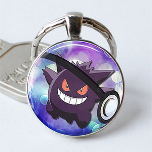 Pokeball Key Chains Glass Dome Pendant Keychain Key Rings - Anime Hero Shop