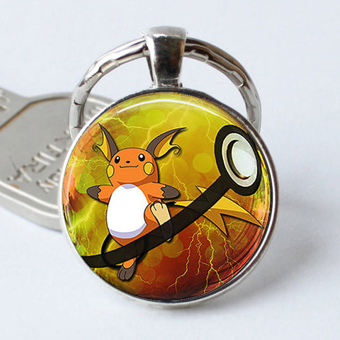 Image of Pokeball Key Chains Glass Dome Pendant Keychain Key Rings - Anime Hero Shop