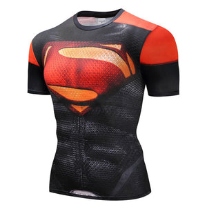 Superheroes The Flash Men Compression Shirts - Anime Hero Shop