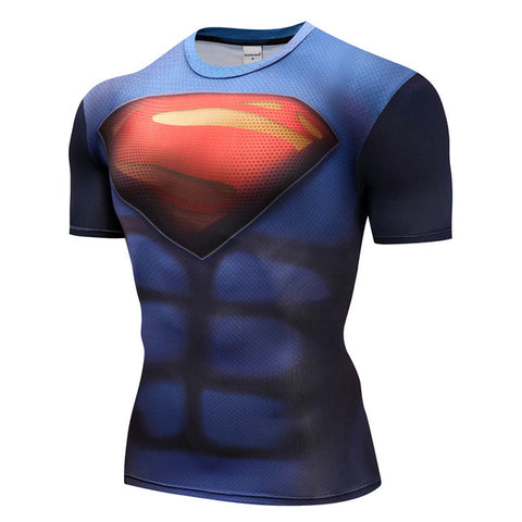 Image of Superheroes The Flash Men Compression Shirts - Anime Hero Shop