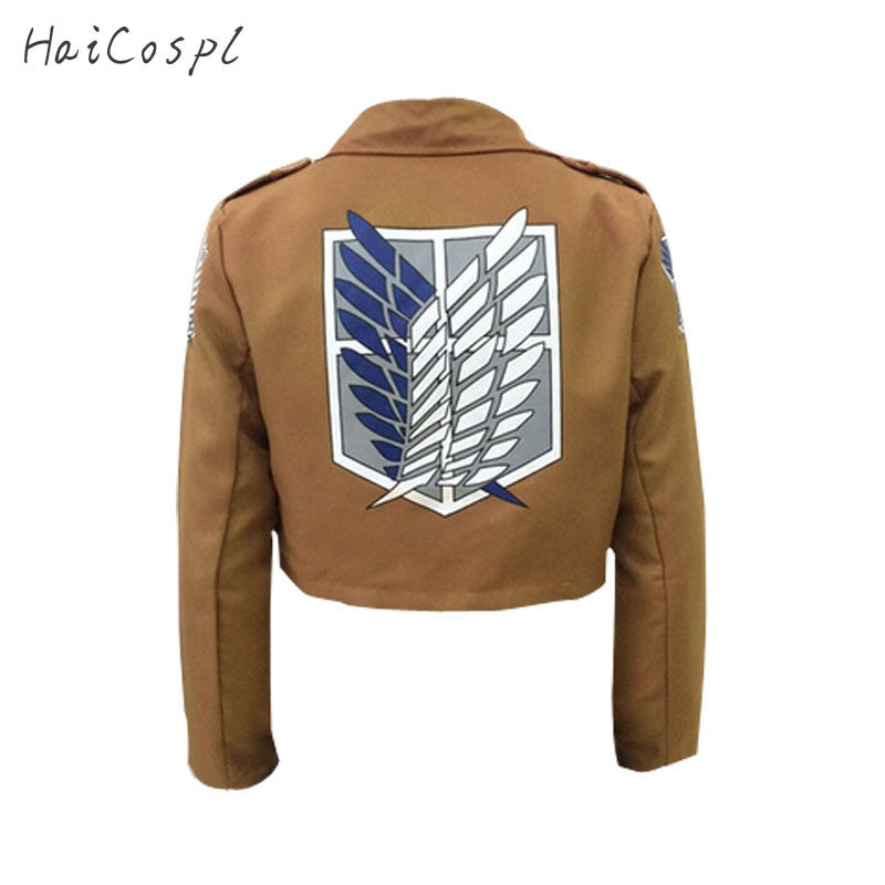 Attack On Titan Cosplay Jacket Brown Coat Women Men Adults