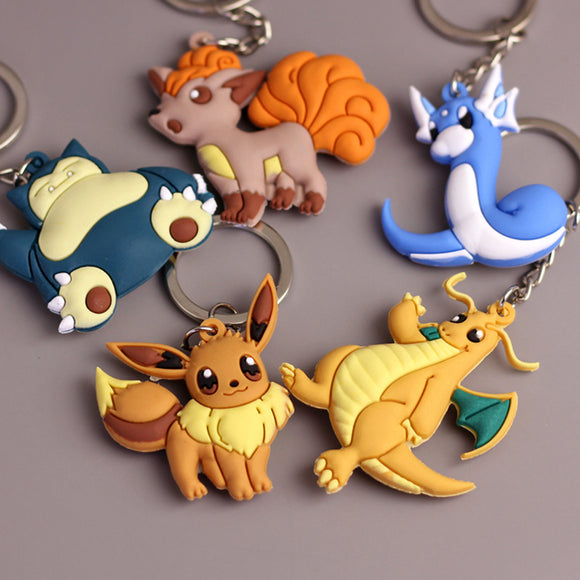 Pokemon Keychain Pocket Monsters Key Holder Pendant 3D