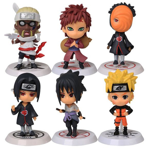 6pcs/set Naruto PVC Figure Full Set Model Collection
