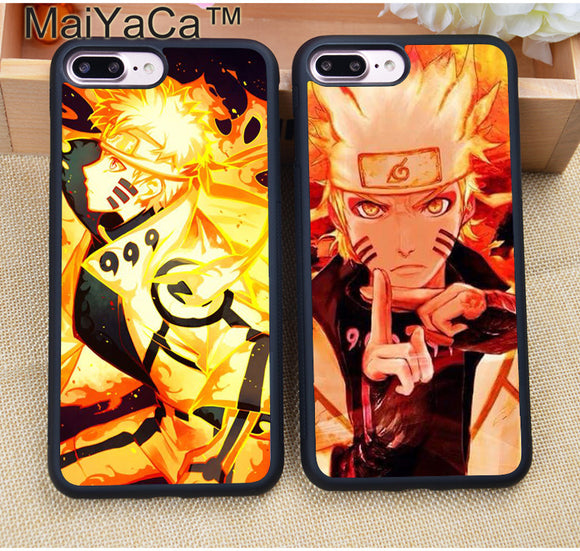 Naruto Phone Cases For iPhone 7 7 Plus 6 6S Plus 5 5S 5C SE 4S 4 Soft Rubber Cover