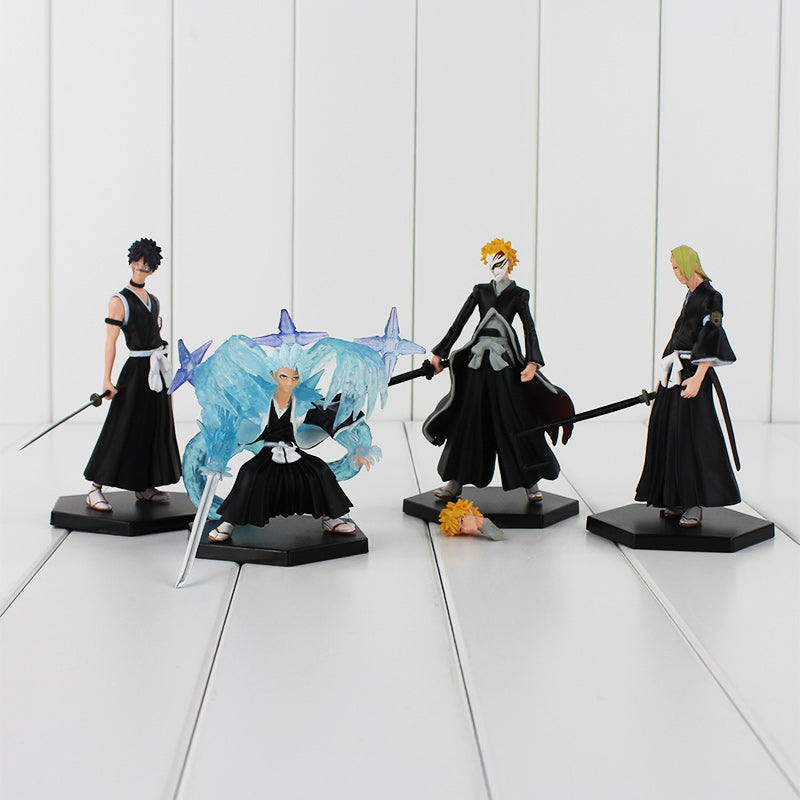 4pcs/lot BLEACH PVC Figure Toys Collections & Children Gifts 9.5-12cm NO BOX - Anime Hero Shop