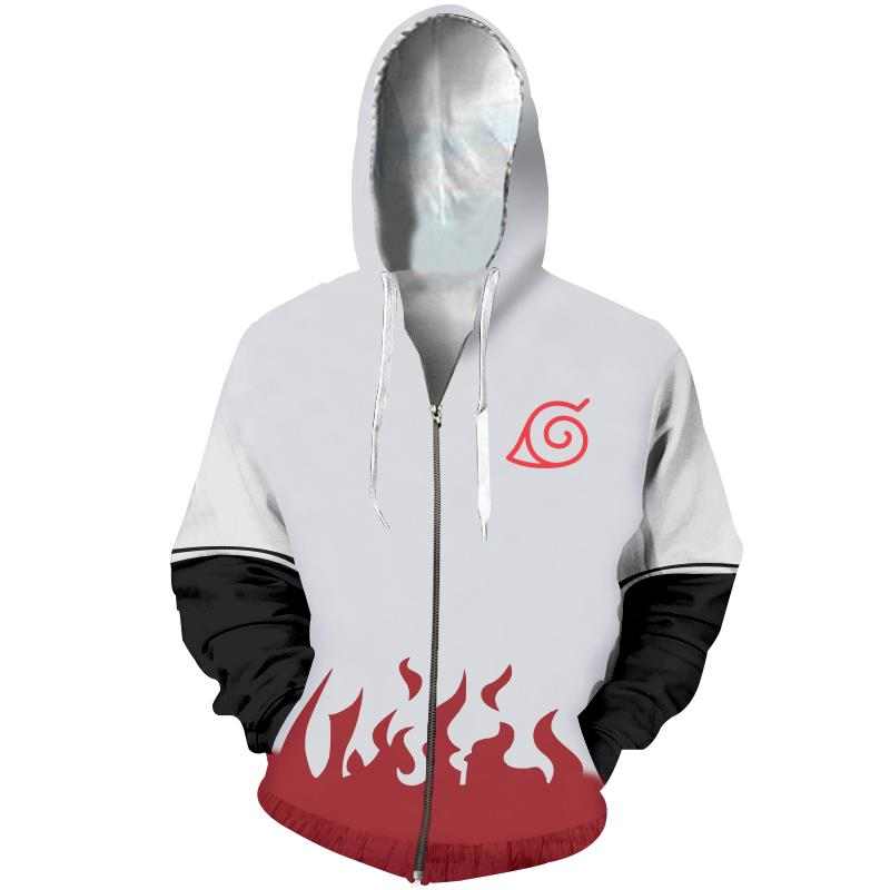 Minato 4th Hokage Zip Up Hoodie - Anime Hero Shop