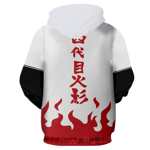 Image of Minato 4th Hokage Zip Up Hoodie