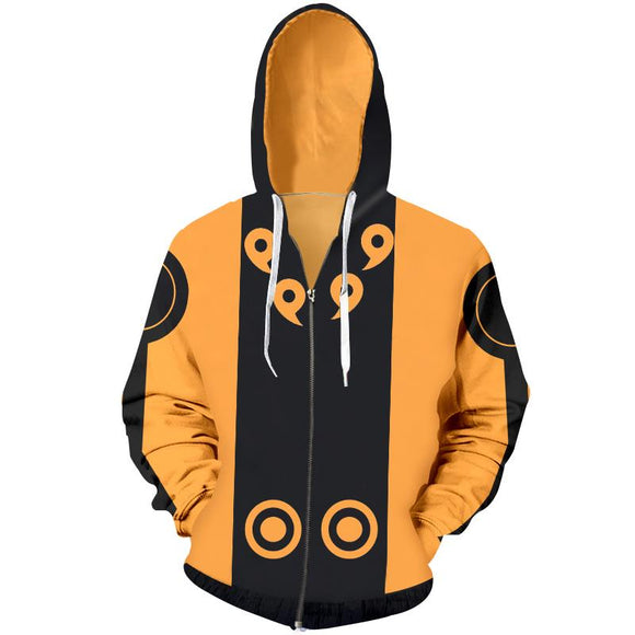Naruto Six Paths Orange Hokage Zip Up Hoodie
