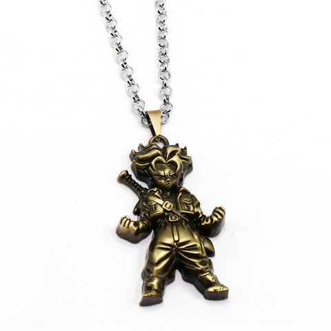Image of Dragon Ball Necklace Trunks Pendant Metal link chain Necklaces - Anime Hero Shop