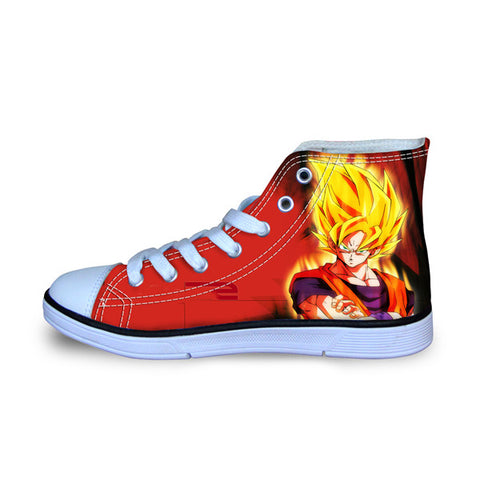 Image of Dragon Ball Z Print Mens Canvas Shoes 3