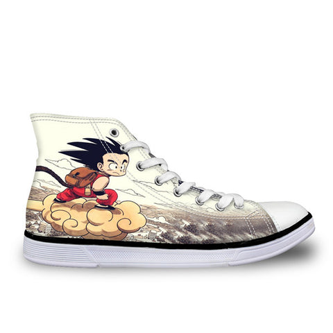 Image of Dragon Ball Z Print Mens Canvas Shoes 3 - Anime Hero Shop