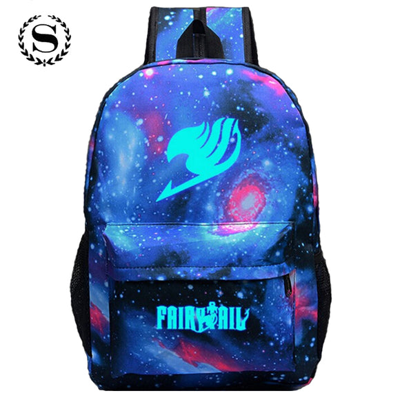 Fairy Tail Printing Backpack Anime School Bags for Teenagers Nylon Bag