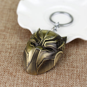 Black Panther Metal Keychains Wakanda King T'Challa Black Panther Accessories - Anime Hero Shop