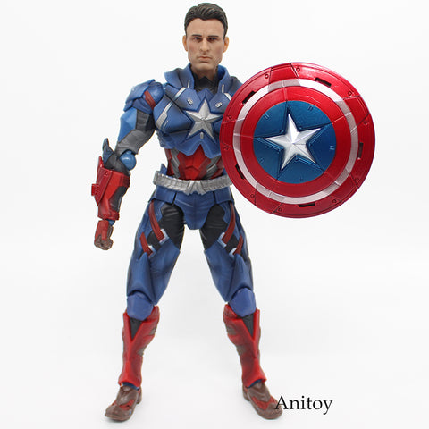 Image of Captain America PVC Action Figure Collectible Models Toys 25cm - Anime Hero Shop