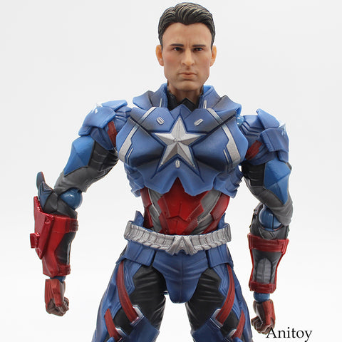 Image of Captain America PVC Action Figure Collectible Models Toys 25cm