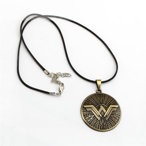 Justice League Wonder Woman Necklace Round Shield Necklace - Anime Hero Shop
