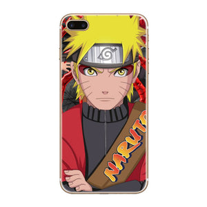 Naruto Transparent Hard Thin Case Cover For Apple iPhone 4 4S 5 5S SE 5C 6 6S 7 8 X Plus - Anime Hero Shop