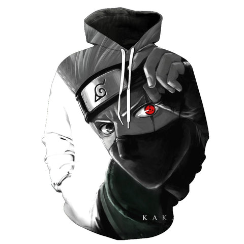 Image of Hatake Kakashi 3D Unisex Hoodie - Anime Hero Shop