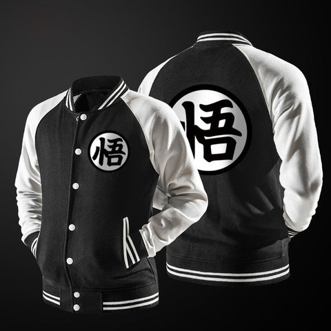 Image of Dragon Ball Baseball Jacket Long Sleeve - Anime Hero Shop