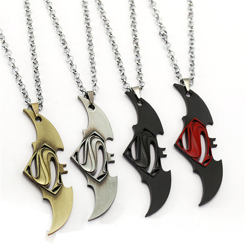 Dark Knight Batman Necklace Pendant stainless steel (20 Styles ) - Anime Hero Shop